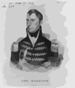General Harrison Clip Art