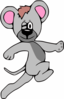 Cartoon Mouse Running Clip Art