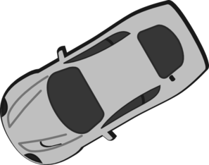 Gray Car - Top View - 210 Clip Art