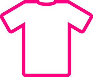 Pink T-shirt Thick Clip Art