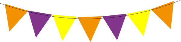 Halloween Bunting printable halloween trick or treat bunting pennant banner flags instant download Download This Image As