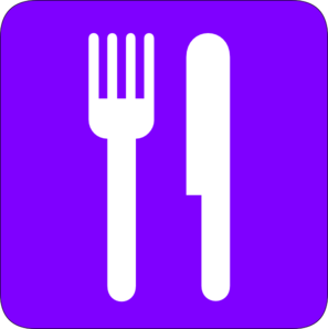 Restaurante In Purple Clip Art