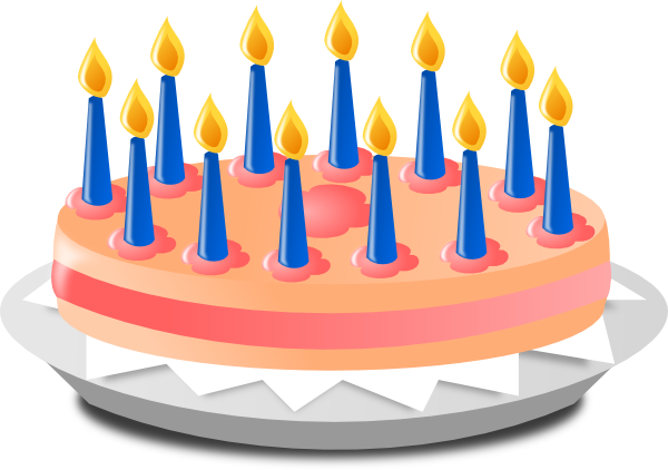Clip Art Of Birthday Cake With Candles : Birthday Cake Clip Art at Clker.com - vector clip art ...