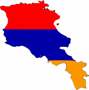 Armenia Flag Map Clip Art