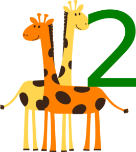 Two Baby Animals Clip Art