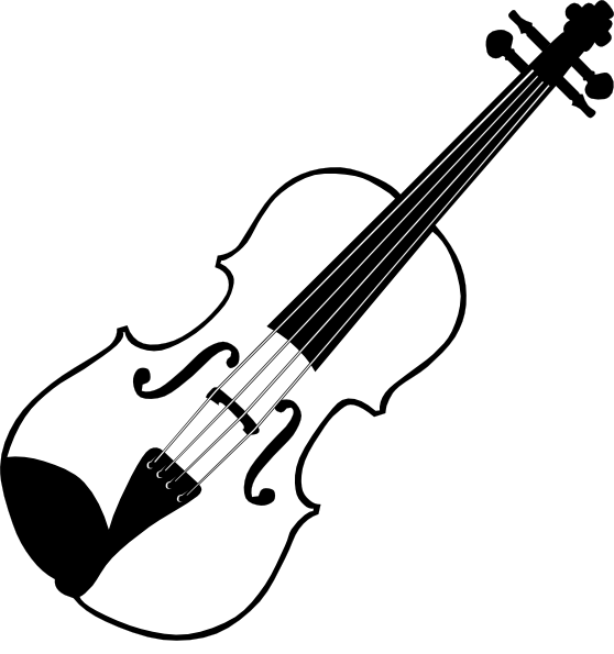 Clipart Violin In Black And White - Royalty Free Vector ...