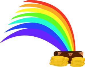 Gold At The End Of The Rainbow Clip Art