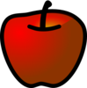 Red Apple 3 Clip Art