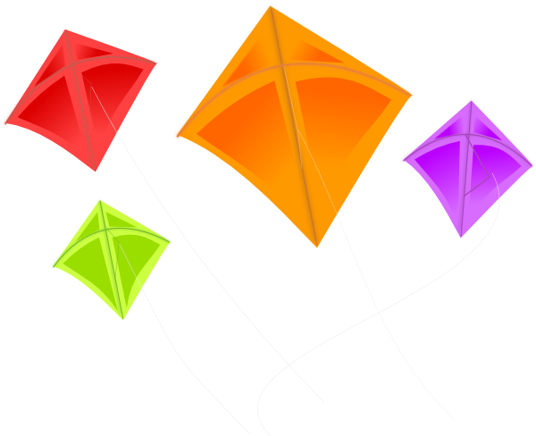 clipart kite flying - photo #33