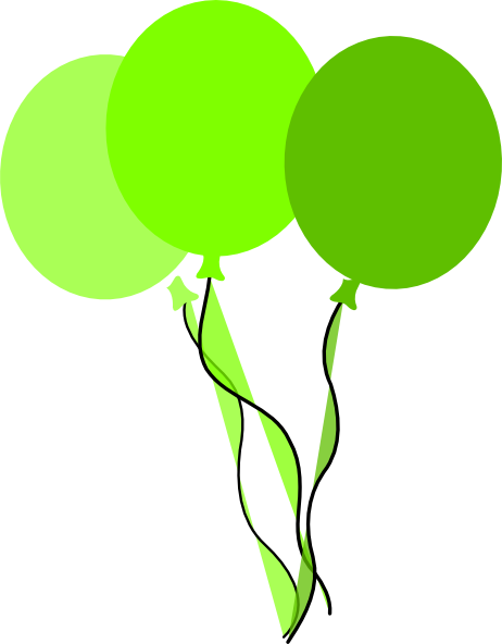 Balloons green. Party clip art at