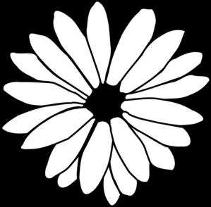 daisy outline clip art at clker - vector clip art online, royalty free  public domain