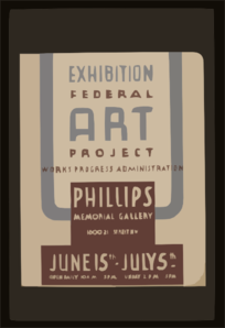 Exhibition - Federal Art Project Works Progress Administration [at The] Phillips Memorial Gallery Clip Art
