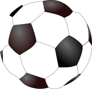 Soccer Ball No Shadows Clip Art