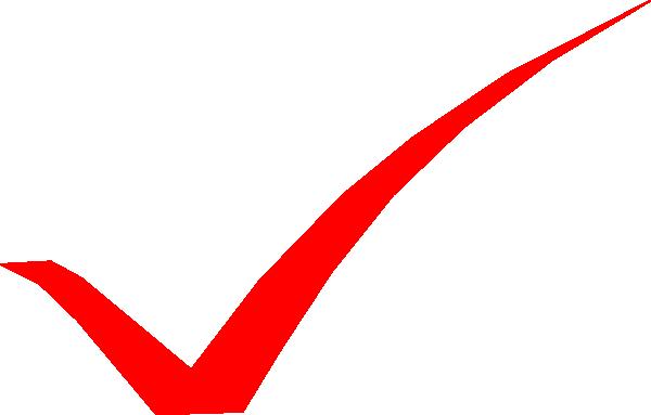 Red Check Mark Clip Art At Clkercom Vector Clip Art Online