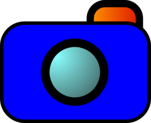 Cartoon Camera Blue Clip Art