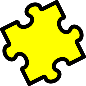 Yellow Puzzle Clip Art
