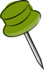 Pin-green Clip Art