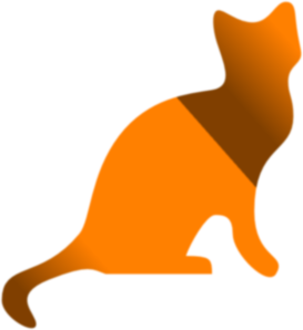 Gradient Yellow And Brown Cat Clip Art