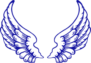 Running Wings Clip Art