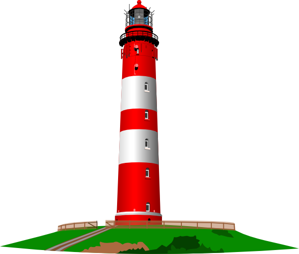red and white lighthouse clip art at clker com vector clip art rh clker com lighthouse clip strips lighthouse clip strips