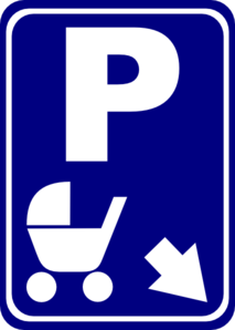 Sign Parking For Strollers Clip Art