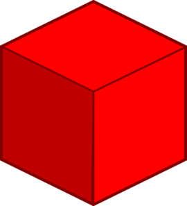 Big Red Cube Clip Art