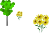 Tree And Daisies Clip Art