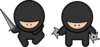Ninja 2 (no Sghadow) Clip Art