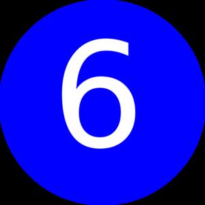 number 6 blue background clip art at clker com vector clip art rh clker com 6 clipart png 6 year old clipart