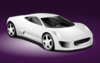 White Sports Car Clip Art