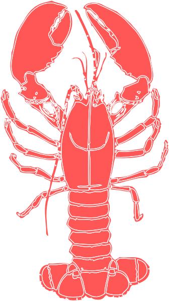 Coral Lobster Clip Art at Clker.com - vector clip art ...