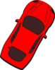 Red Car - Top View - 60 Clip Art