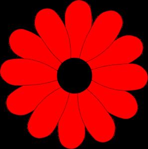 Red Gerbera Daisy Clip ArtRed Daisy Clipart