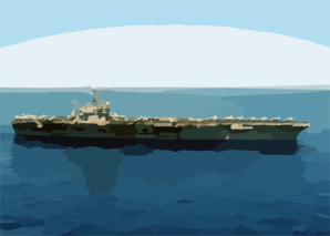 The Aircraft Carrier Uss Theodore Roosevelt (cvn 71) Steams Through The Mediterranean While Conducting Combat Missions In Support Of Operation Iraqi Freedom Clip Art