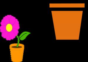 flower pots clip art at clker com vector clip art online royalty rh clker com flower pot clipart images flower pot clip art free