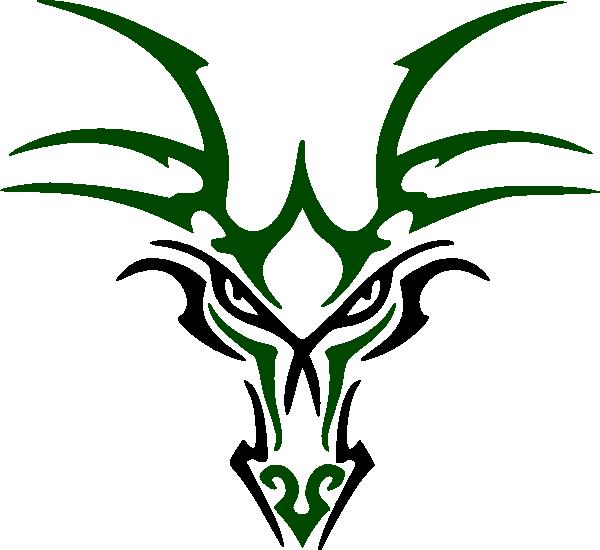 Green Dragon Head Clip Art at Clker.com - vector clip art ...