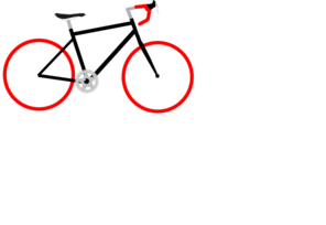 Red Tire Bike Clip Art
