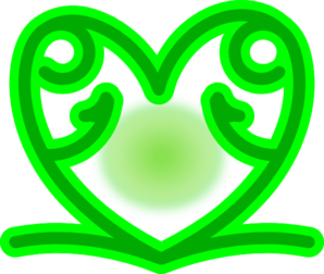 Green Celtic Heart Clip Art