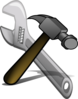 Crossed Hammer And Spanner Clip Art