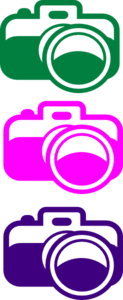 Dslr Camera Mulit-colors Clip Art