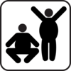 Two Fat Men Clip Art