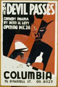 The Devil Passes Comedy Drama By Benn W. Levy : Opening Dec. 26. Clip Art