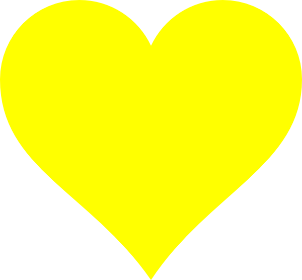 clip art yellow heart - photo #1