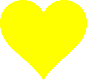 Yellow Heart clip art - vector clip art online, royalty free ...