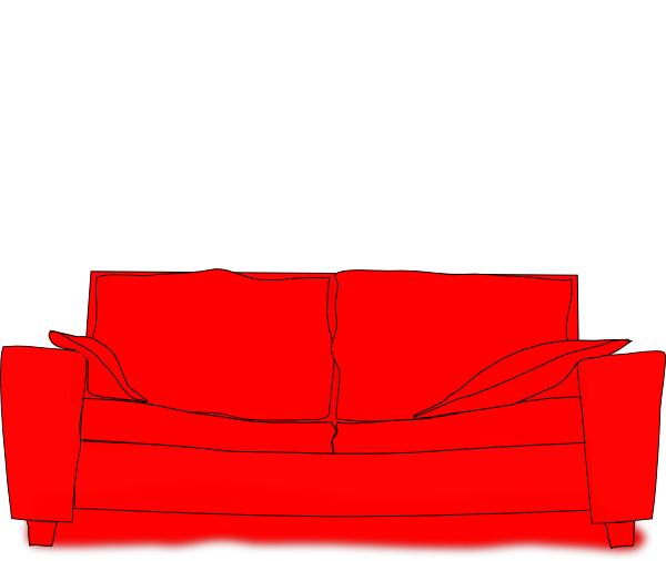 Red Couch Clip Art At Clker Com Vector Clip Art Online Royalty