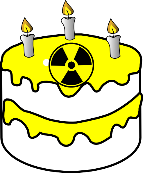 Yellow Radioactive Cake Clip Art at Clker.com - vector ...