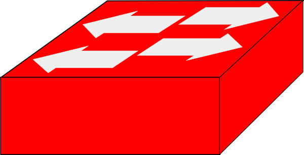 Red Switch Symbol Clipart Library