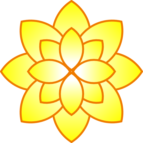 Simple Yellow Flower Clip Art at Clker.com - vector clip ...