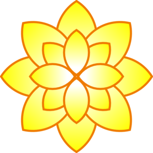 Simple Yellow Flower Clip Art