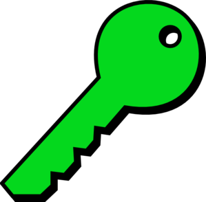 Greenplain Key Clip Art